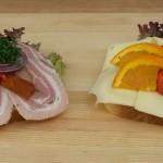Franskbrød med ost og en med rullepølse - Kokken