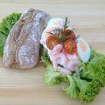 Thorstykke med æg og rejer hos Kokken i Viborg